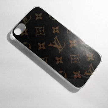 Louis Vuitton Couture iPhone 4/4S Case - Black with Gold Logo