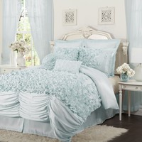 The Coko Romantic Ruffle Swag 4PC Comforter Bedding SET