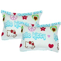 Hello Kitty Pillow Shams Set Peace Sign Bedding Accessories
