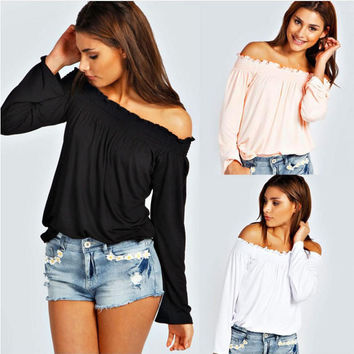 Off Shoulder Causal Shirt