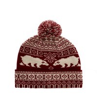 ASOS Bobble Beanie Hat with Polar Bear Design