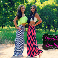 ZIGGY CHEVRON MAXI SKIRT