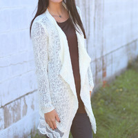 Cream of the Crop Lace Cardigan