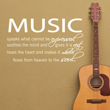 Music Wall Decal Quote Decor Art Vinyl Decals