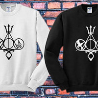 Harry Potter, Percy Jackson, Mortal Instruments, Hunger Games, and Divergent Crewneck Sweater   Available Size S,M,L,XL,XXL
