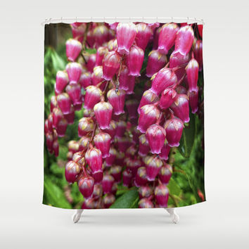 Deep Pink Andromeda  Shower Curtain by Awesome Palette