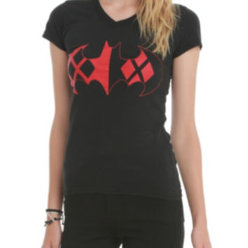 DC Comics Batman Harley Quinn Logo Girls T-Shirt 3XL