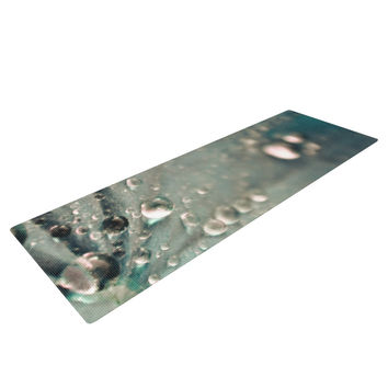"Iris Lehnhardt ""Water Droplets Grey"" Dark Yoga Mat"