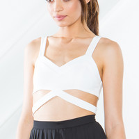 Brittan Cut Out Crop Top