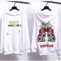 GUCCI Hooded Fashion Long Sleeve Top Sweater Hoodie Sweatshirt White For Black Friday