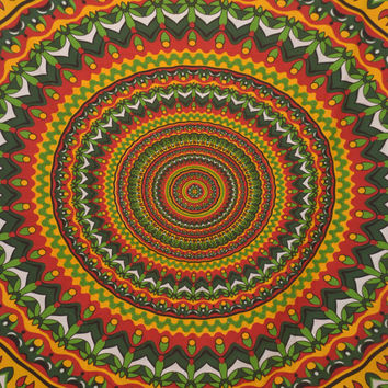 Indian Mandala Chakra tatpestry,Handmade bed sheet,Table cloth,Bed Spread,Wall art,Curtain,Hippie Hippy Wall Hanging,Wall Decor,, Bed Cover