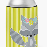 Raccoon with Flowers Can or Bottle Hugger BB7095CC