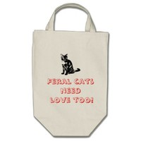 Feral Cats Need Love Bag from Zazzle.com