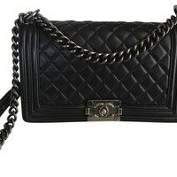 Chanel Le Boy Black Cross Body Bag 6% off retail