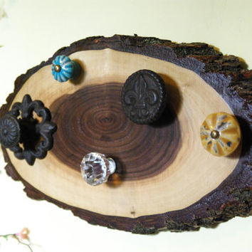 Black Walnut Jewelry Display, Jewelry Hanger, Country Chic, Rustic Jewelry Holder, Tree Wood Decor
