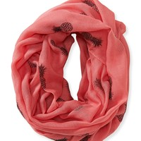 Aeropostale Womens Pineapple Infinity Scarf - Neon, One