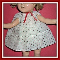 """Shirley Temple Doll Dress and Slip For 13"""" Doll - Composition Doll (item #1291600)"""
