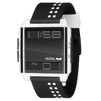 Vestal Digichord Watch Black/White One Size For Men 17612012501