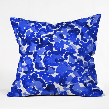 Rebecca Allen Dressed In Hue Outdoor Throw Pillow
