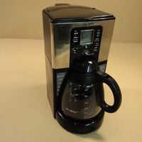 Mr Coffee Sunbeam 12 Cup Programmable Coffee Maker B No Mess Carafe FTX41CP -- Used