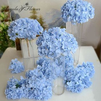 ESBONHS 11pcs/lot Amazing colorful decorative flower for wedding party  luxury artificial  Hydrangea silk DIY flower