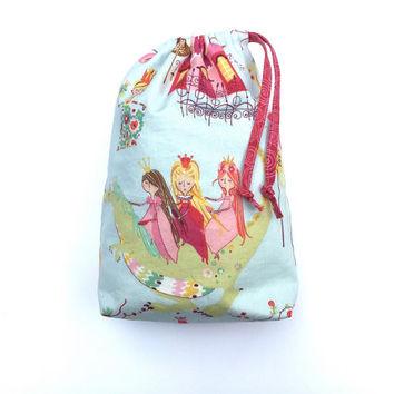 Fairy Tote Bag - Toddler Book Bag - Princess Bag - Girls Little Purse - Kids Bag - Draw String  Bag