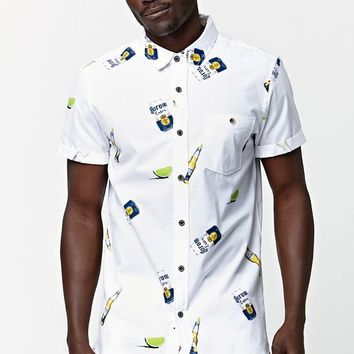 Modern Amusement Corona Woven Shirt - Mens Shirt - White