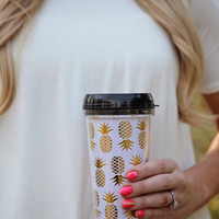 Fancy Pineapple Travel Coffee Mug *LAST ONE*