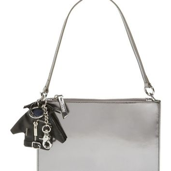 Opening Ceremony Metallic Leather Clutch & Bag Charm | Nordstrom