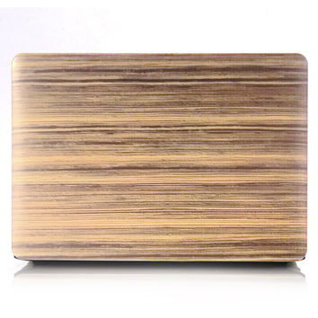 Apple Macbook Protective Wood Texture Hard Case | FREE SHIPPING