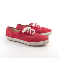 Red Keds Shoes Vintage 1980s  Sneakers Women's size 71/2