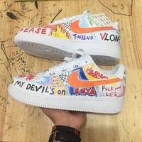 Custom Vlone AF1 Harlem Sneakers – H For Hype