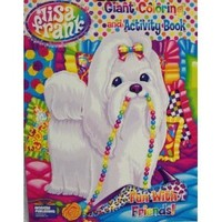 Lisa Frank Giant Coloring & Activity Book ~ Fun with Friends!