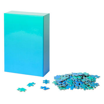 Blue Waves Gradient Puzzle