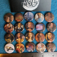 20pc 1 inch FIREFLY Pinback Buttons badges flair tv show steampunk space western scifi science fiction serenity