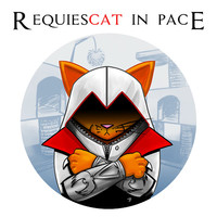 Assassin Cat (Requiescat In Pace) T-Shirt *FREE SHIPPING*
