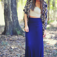 The Nova Maxi Skirt: Navy Blue | Hope's