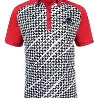 Houndstooth ProCool Men's Golf Shirt (Red)