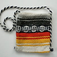 SALE!!!! Small Vintage Woven Mexican Blanket  Bag