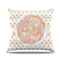"Pellerina Design ""Watercolor Peony"" Pink Floral Throw Pillow"