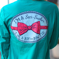 LAUREN JAMES: Seersucker for a Boy Tee {Tropical Green}