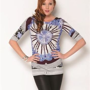 Emilio Pucci Original Couture Runway Silk Long Sleeve Shirt- Made in Italy - Designer Vault Day for Her by Chloe, Balenciaga, YSL and more - Modnique.com