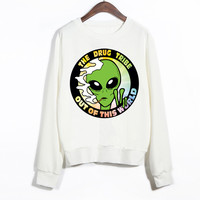 EAST KNITTING Out Of The World Aliens Women Harajuku Hoodies Winter Clothing  For Girl
