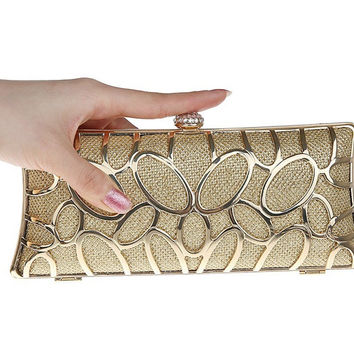 Alloy long rhinestone women bag clutch evening bags cosmetics case small purse bag