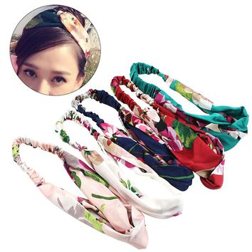 5pcs Women Elastic Head Wrap Headband