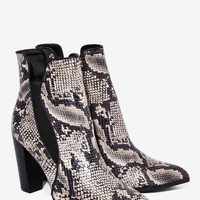 Have Your Snake Textured Bootie