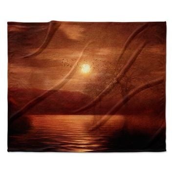 "Viviana Gonzalez ""Woods To Conjure"" Red Black Fleece Throw Blanket"