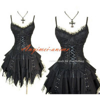 Free Shipping Gothic Lolita Punk Fashion Corset-skirt Dress Cosplay Costume Tailor-made [CK1258] - $102.76 : Fond Cosplay