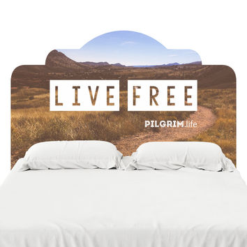 Live Free Headboard Decal