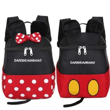 New Cute Little Mouse Cartoon Children Bag Kids Backpacks for Girls Boys Kindergarten School Bags Bolsa Escolar Infantil